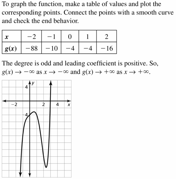 Big Ideas Math Algebra 2 Answers Chapter 4 Polynomial Functions 4.1 Question 31
