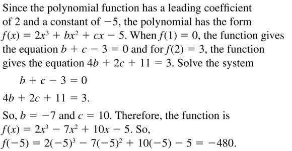 Big Ideas Math Algebra 2 Answers Chapter 4 Polynomial Functions 4.1 Question 49