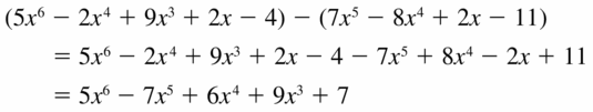 Big Ideas Math Algebra 2 Answers Chapter 4 Polynomial Functions 4.2 Question 11