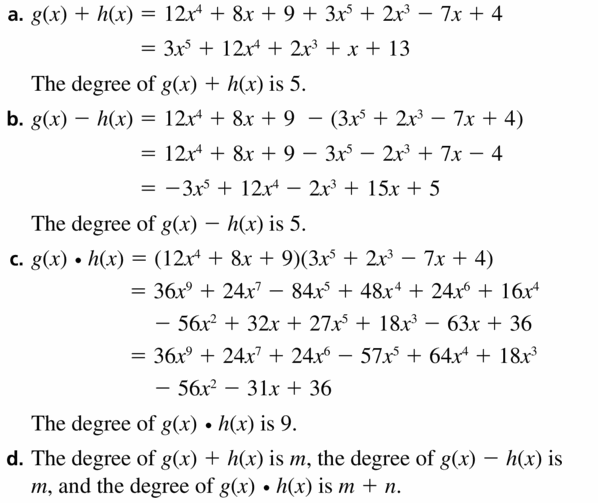 Big Ideas Math Algebra 2 Answers Chapter 4 Polynomial Functions 4.2 Question 63.1