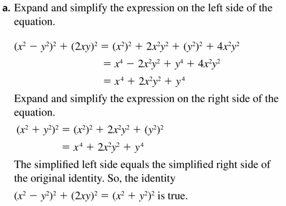 Big Ideas Math Algebra 2 Answers Chapter 4 Polynomial Functions 4.2 Question 65.1