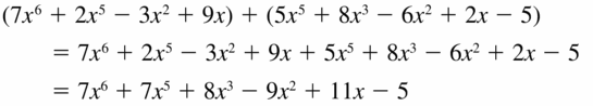 Big Ideas Math Algebra 2 Answers Chapter 4 Polynomial Functions 4.2 Question 7