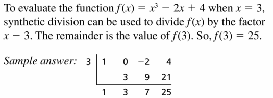 Big Ideas Math Algebra 2 Answers Chapter 4 Polynomial Functions 4.3 Question 1