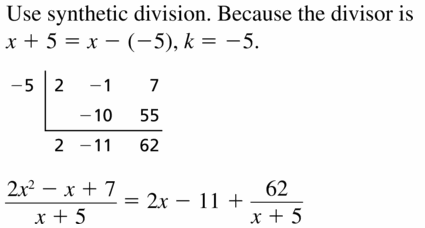 Big Ideas Math Algebra 2 Answers Chapter 4 Polynomial Functions 4.3 Question 13