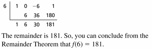 Big Ideas Math Algebra 2 Answers Chapter 4 Polynomial Functions 4.3 Question 29