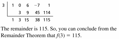 Big Ideas Math Algebra 2 Answers Chapter 4 Polynomial Functions 4.3 Question 31