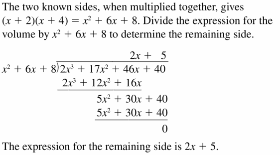 Big Ideas Math Algebra 2 Answers Chapter 4 Polynomial Functions 4.3 Question 39
