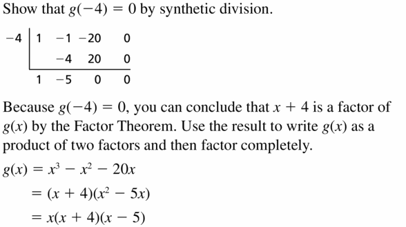 Big Ideas Math Algebra 2 Answers Chapter 4 Polynomial Functions 4.4 Question 45