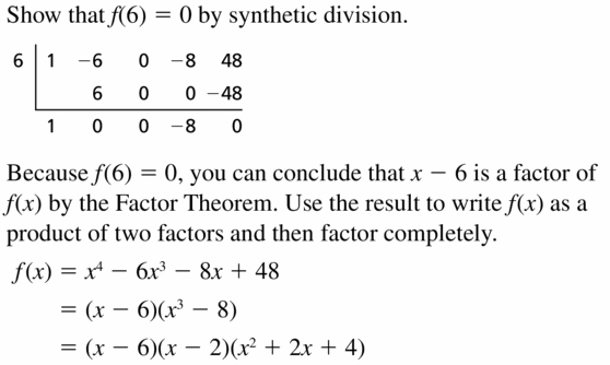 Big Ideas Math Algebra 2 Answers Chapter 4 Polynomial Functions 4.4 Question 47