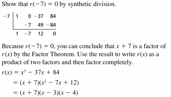 Big Ideas Math Algebra 2 Answers Chapter 4 Polynomial Functions 4.4 Question 49