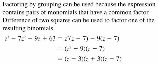 Big Ideas Math Algebra 2 Answers Chapter 4 Polynomial Functions 4.4 Question 59