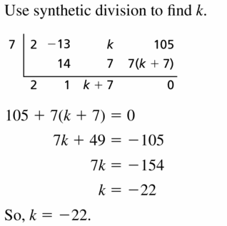 Big Ideas Math Algebra 2 Answers Chapter 4 Polynomial Functions 4.4 Question 71