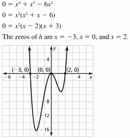 Big Ideas Math Algebra 2 Answers Chapter 4 Polynomial Functions 4.5 Question 13