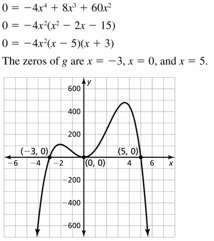 Big Ideas Math Algebra 2 Answers Chapter 4 Polynomial Functions 4.5 Question 17