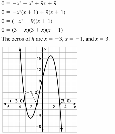 Big Ideas Math Algebra 2 Answers Chapter 4 Polynomial Functions 4.5 Question 19