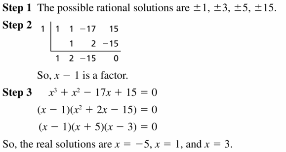 Big Ideas Math Algebra 2 Answers Chapter 4 Polynomial Functions 4.5 Question 25