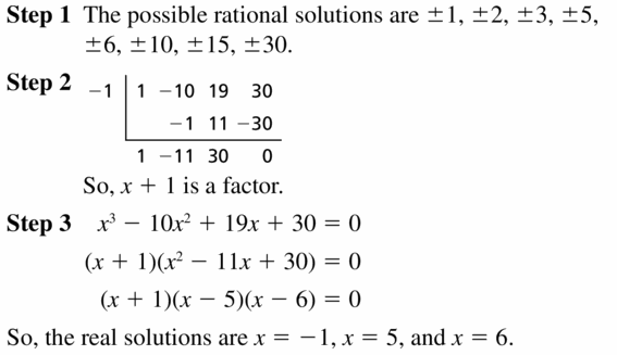 Big Ideas Math Algebra 2 Answers Chapter 4 Polynomial Functions 4.5 Question 27