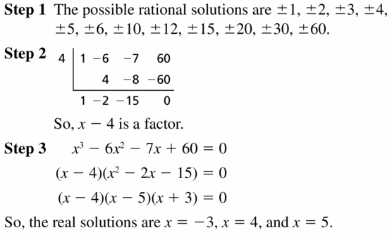 Big Ideas Math Algebra 2 Answers Chapter 4 Polynomial Functions 4.5 Question 29