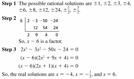 Big Ideas Math Algebra 2 Answers Chapter 4 Polynomial Functions 4.5 Question 31