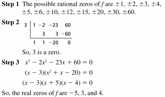 Big Ideas Math Algebra 2 Answers Chapter 4 Polynomial Functions 4.5 Question 33