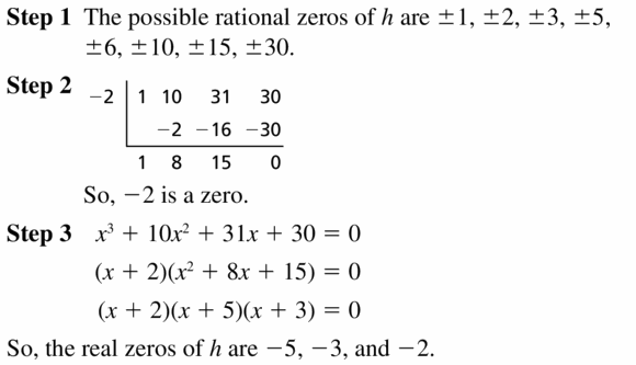 Big Ideas Math Algebra 2 Answers Chapter 4 Polynomial Functions 4.5 Question 35