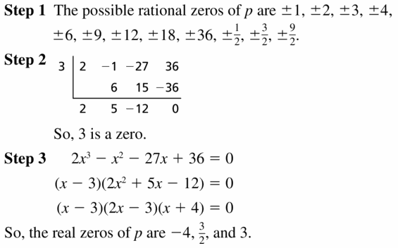 Big Ideas Math Algebra 2 Answers Chapter 4 Polynomial Functions 4.5 Question 37