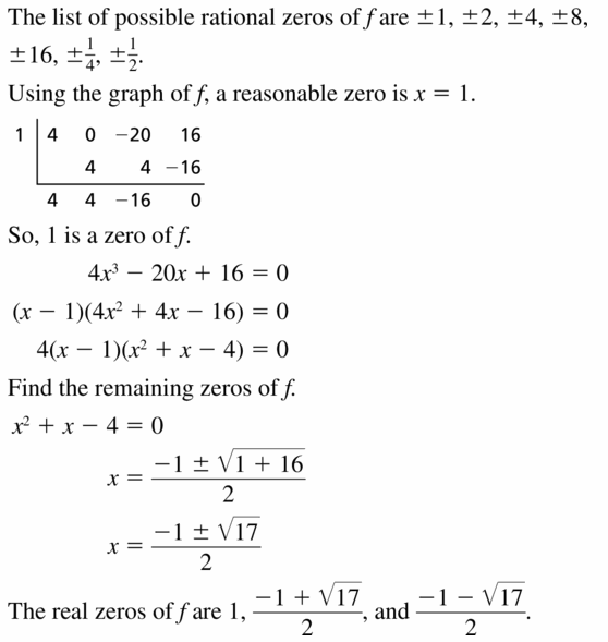 Big Ideas Math Algebra 2 Answers Chapter 4 Polynomial Functions 4.5 Question 39
