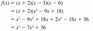 Big Ideas Math Algebra 2 Answers Chapter 4 Polynomial Functions 4.5 Question 41