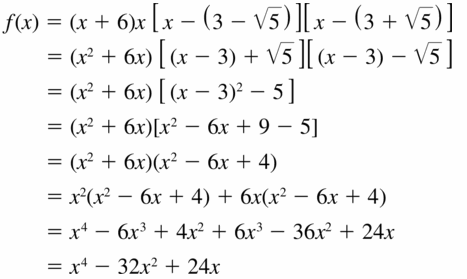 Big Ideas Math Algebra 2 Answers Chapter 4 Polynomial Functions 4.5 Question 45