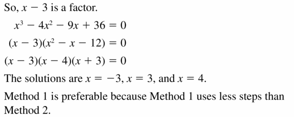 Big Ideas Math Algebra 2 Answers Chapter 4 Polynomial Functions 4.5 Question 47.2