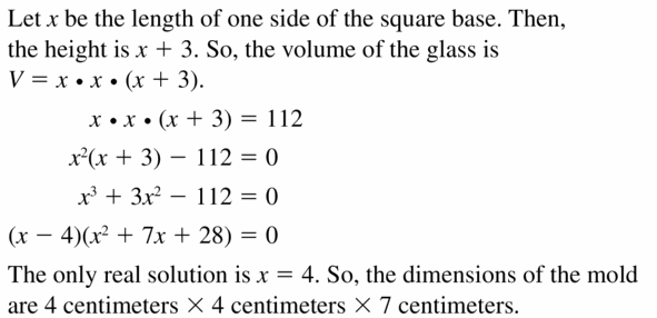 Big Ideas Math Algebra 2 Answers Chapter 4 Polynomial Functions 4.5 Question 49