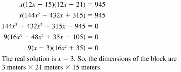Big Ideas Math Algebra 2 Answers Chapter 4 Polynomial Functions 4.5 Question 51