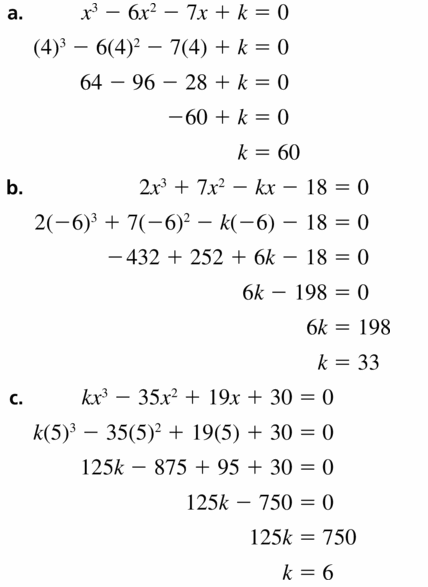Big Ideas Math Algebra 2 Answers Chapter 4 Polynomial Functions 4.5 Question 57