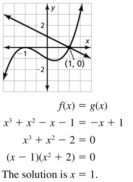 Big Ideas Math Algebra 2 Answers Chapter 4 Polynomial Functions 4.5 Question 59