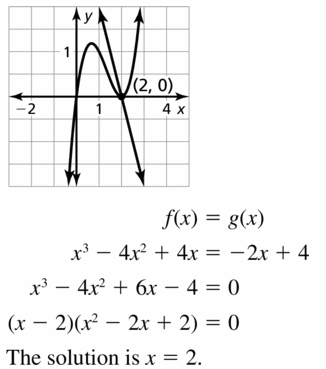 Big Ideas Math Algebra 2 Answers Chapter 4 Polynomial Functions 4.5 Question 61