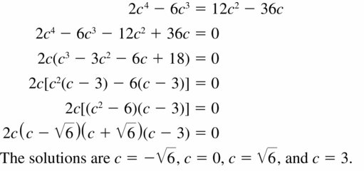 Big Ideas Math Algebra 2 Answers Chapter 4 Polynomial Functions 4.5 Question 9