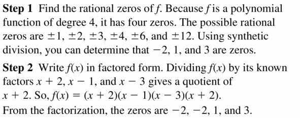 Big Ideas Math Algebra 2 Answers Chapter 4 Polynomial Functions 4.6 Question 11