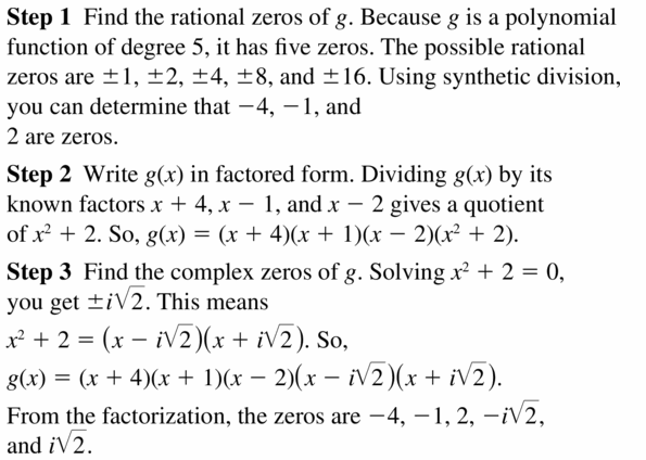 Big Ideas Math Algebra 2 Answers Chapter 4 Polynomial Functions 4.6 Question 15