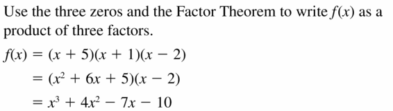 Big Ideas Math Algebra 2 Answers Chapter 4 Polynomial Functions 4.6 Question 21