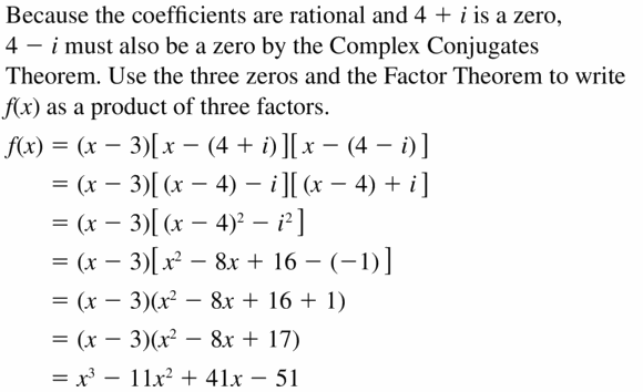 Big Ideas Math Algebra 2 Answers Chapter 4 Polynomial Functions 4.6 Question 23