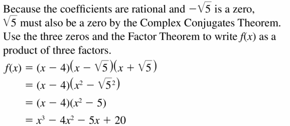 Big Ideas Math Algebra 2 Answers Chapter 4 Polynomial Functions 4.6 Question 25