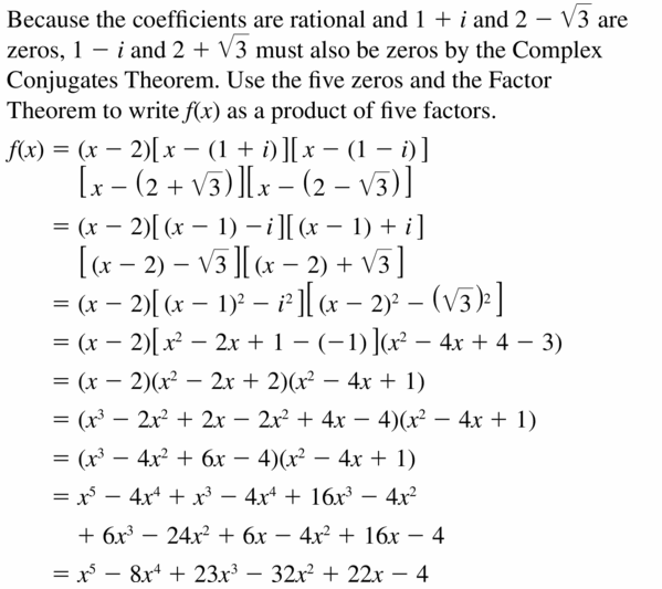 Big Ideas Math Algebra 2 Answers Chapter 4 Polynomial Functions 4.6 Question 27