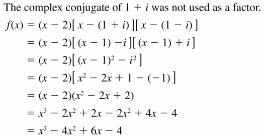 Big Ideas Math Algebra 2 Answers Chapter 4 Polynomial Functions 4.6 Question 29