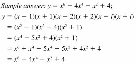 Big Ideas Math Algebra 2 Answers Chapter 4 Polynomial Functions 4.6 Question 31