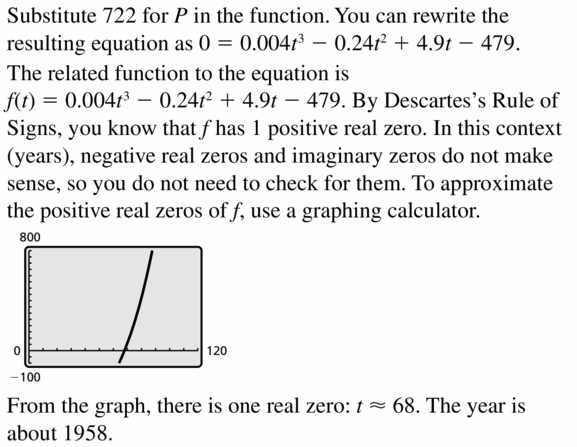 Big Ideas Math Algebra 2 Answers Chapter 4 Polynomial Functions 4.6 Question 43