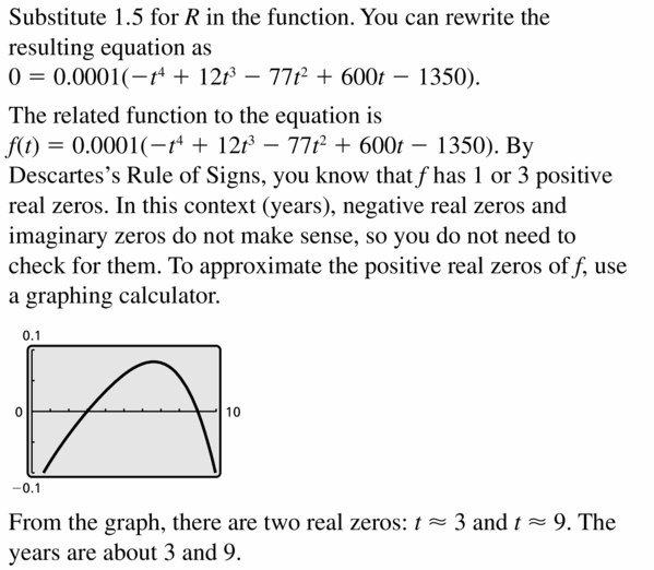 Big Ideas Math Algebra 2 Answers Chapter 4 Polynomial Functions 4.6 Question 45