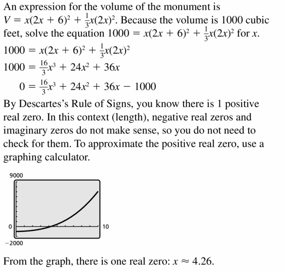 Big Ideas Math Algebra 2 Answers Chapter 4 Polynomial Functions 4.6 Question 47