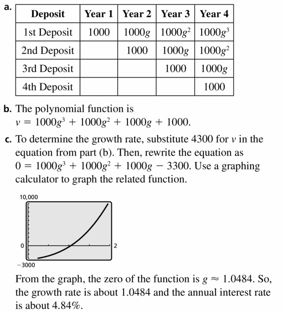 Big Ideas Math Algebra 2 Answers Chapter 4 Polynomial Functions 4.6 Question 53.1