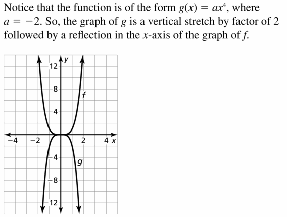Big Ideas Math Algebra 2 Answers Chapter 4 Polynomial Functions 4.7 Question 11