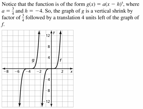 Big Ideas Math Algebra 2 Answers Chapter 4 Polynomial Functions 4.7 Question 15